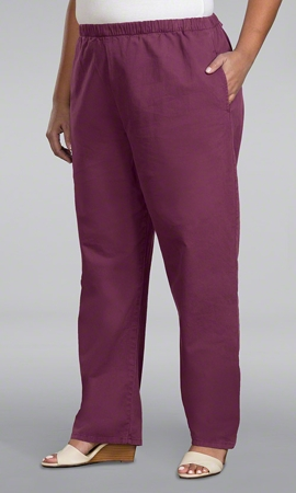 Relaxed Stretch Twill Solid Plus Size Pants 1X-8X