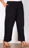 Wide Leg Stretch Twill Solid Pants