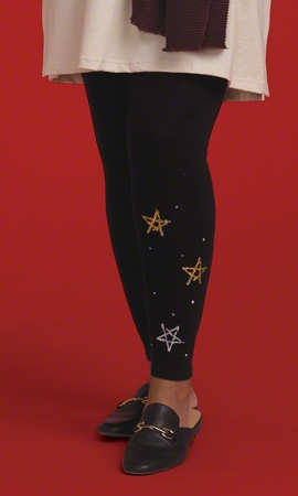 Print Cotton Star Leggings