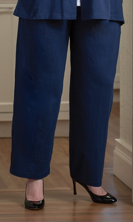 Connie French Terry Solid Plus Size Pants 2X-8X