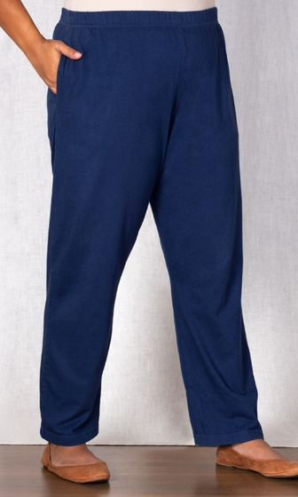 Cotton Knit Relaxed Solid Pants