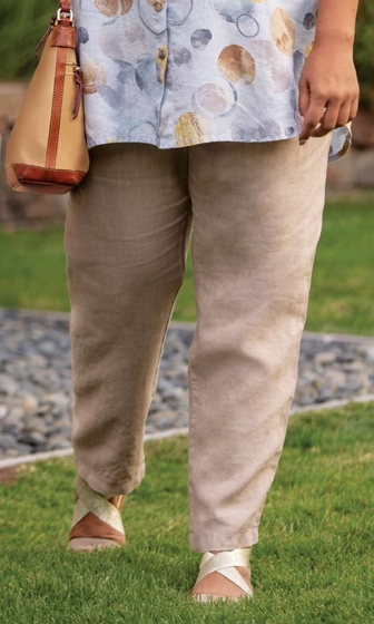 Relaxed Linen Solid Pants