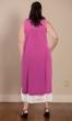 100% Cotton Ultra Soft Lace Trim Sleeveless Plus Size Tank Nightgown