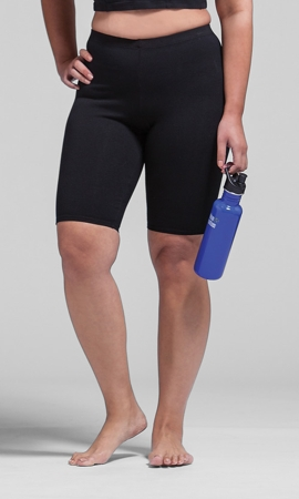 Solid Cotton Lycra Bike Shorts
