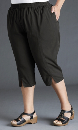 Cotton Stretch Twill Crop Pants