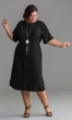 Perfect Rayon Solid Short Sleeve Dress