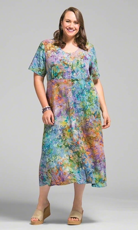 Fallon Batik Short Sleeve Dress
