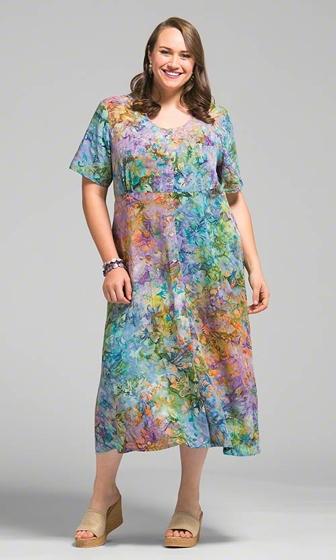 Fallon Batik Short Sleeve Dress