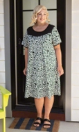 100% Cotton Short Sleeve Round Neck Tegu Dress