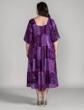 100% Rayon Round Neck Short Sleeve Ojai Dress