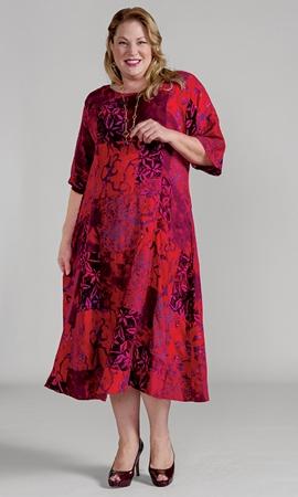 Sale 100% Rayon Round Neck Short Sleeve Ojai Dress