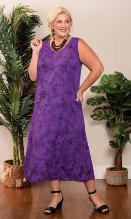 Poppy Batik Sleeveless Plus Size Dress 2X-8X