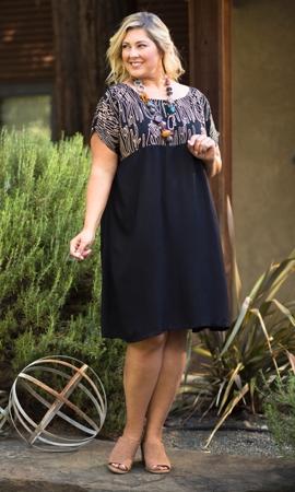 Shelby Short Sleeve Sketch Plus Size Dress 2X-7X