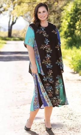 Short Sleeve Kona Lapis Dress
