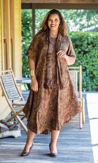 Madras Short Sleeve Batik Dress