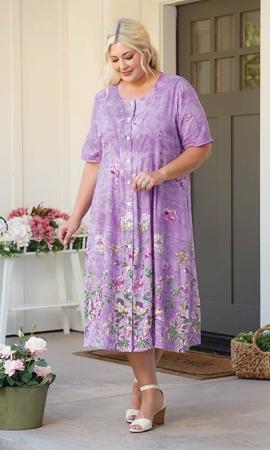 Sale Lavender Short Sleeve Dress