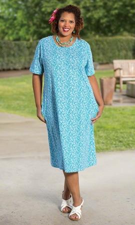 Short Sleeve Penelope Plus Size Dress 0X-8X