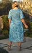 Hand Batik Shirred 100% Rayon Short Sleeve Round Neck Vanna Dress