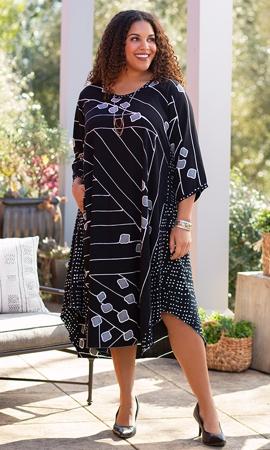 Hand Batik 100% Rayon Long Sleeve Edyth Dress