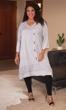 Crochet Embroidered 100% Rayon 3/4 Sleeve Eden Dress