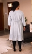Crochet Embroidered 100% Rayon 3/4 Sleeve Eden Dress