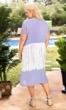 Crochet Embriodered Cotton Rayon Short Sleeve Mauve Dress