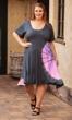 Sale Tie-Dye Rayon Short Sleeve Round Neck Dress