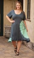 Tie-Dye Rayon Short Sleeve Round Neck Juno Dress