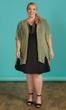 Sale Solid Short Sleeve V-Neck Ponte Fit And Flare Dress