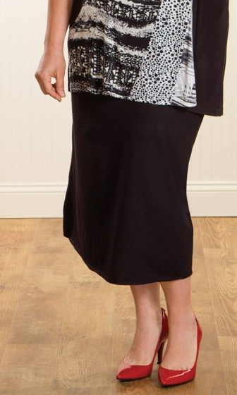 Sale Jersey Pencil Solid Skirt