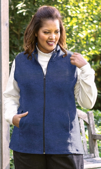 Lyddie Sleeveless Zip Up Fleece Vest