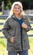 Lyddie Hooded Long Sleeve Zip Up Fleece Jacket