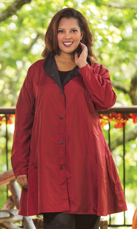 Mel Reversible Long Sleeve Raincoat