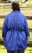 Long Sleeve Adjustable Cinch Waist Raincoat with Removable Hood