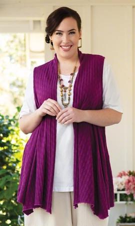 Chrissy Tencel Solid Sleeveless Plus Size Vest 2X-8X