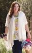 100% Cotton Lace Crochet Button Front Dove Duster