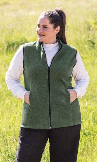 Lyddie Solid Sleeveless Zip Front Vest