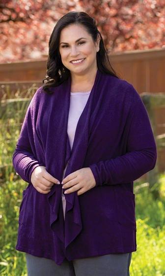 Solid Long Sleeve Shawl Collar Dawn Cardigan