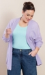 Becky Solid Long Sleeve Cotton Knit Jacket