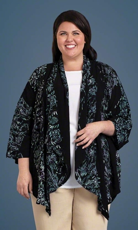 Miladi Batik Bracelet Sleeve Jacket