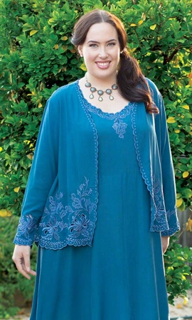 Long Sleeve Imala Cutwork Plus Size Jacket 0X-8X