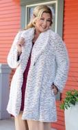 Alta Faux Fur Solid Long Sleeve Jacket