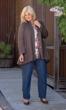 Tawny Ribbed Cuffed Long Sleeve Cotton Knit Tunic
