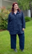 Water Resistant Lined Spencer Rain Coat