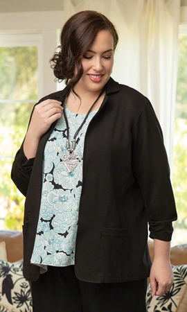 Ruth Solid Long Sleeve Blazer