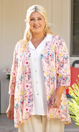 Mirabai Long Sleeve Plus Size Jacket 2X-8X