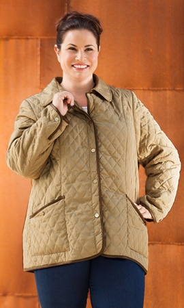 Long Sleeve Mackenzie Quilted Plus Size Coat 0X-8X