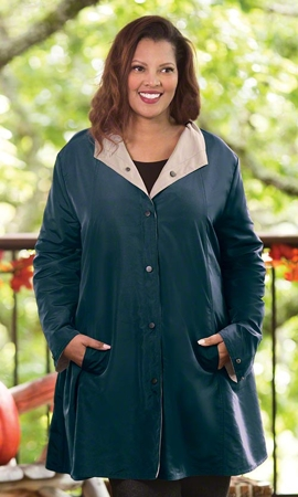 Sale Mel Reversible Solid Long Sleeve Raincoat