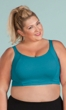 95% Cotton Double Layer Solid Sports Bra
