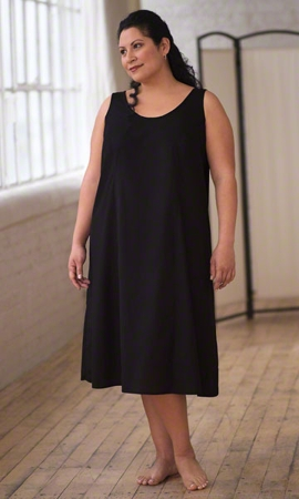 Full Solid Sleeveless Plus Size Slip Dress 2X-8X